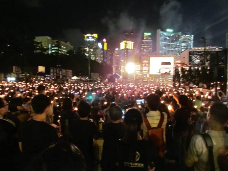 tiananmen candlelight vigil hong kong