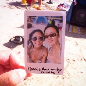 sai kung beach, polaroid
