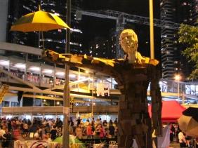 umbrella man, hong kong, umbrella movement, protest